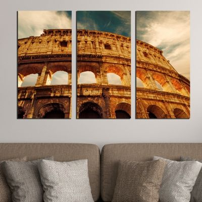 0391 Wall art decoration (set of 3 pieces) Rome, coliseum