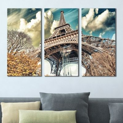 0392 Wall art decoration (set of 3 pieces) Paris