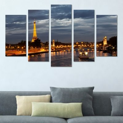 0399 Wall art decoration (set of 5 pieces) Paris