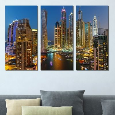 0400 Wall art decoration (set of 3 pieces) Dubai