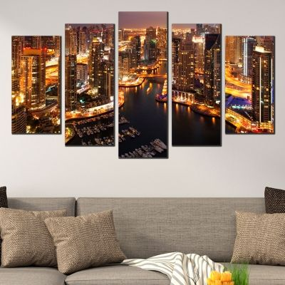 0401 Wall art decoration (set of 5 pieces) Dubai