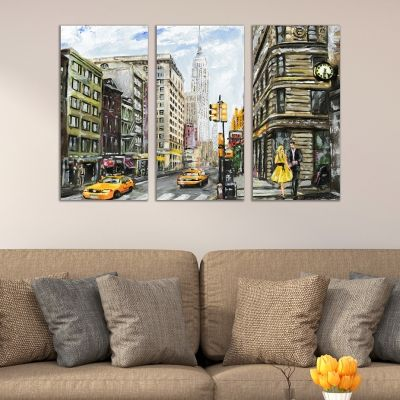 0414 Wall art decoration (set of 3 pieces) New York
