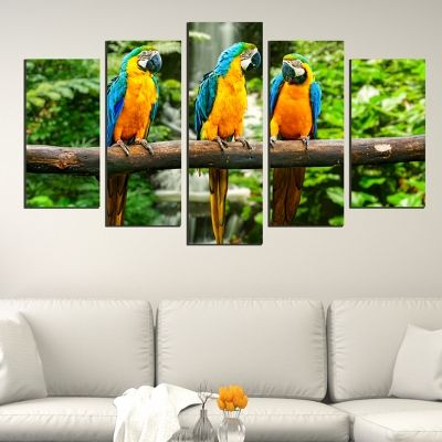 Colorful canvas wall art decoration