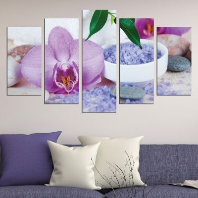 0435 Wall art decoration (set of 5 pieces) SPA compsition