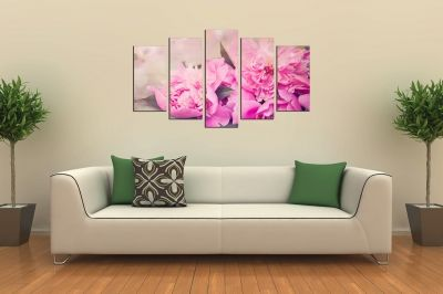 Canvas wall art decoration Peonies
