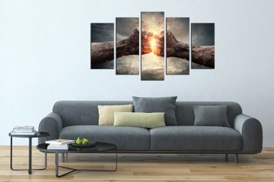 canvas wall art set Collision