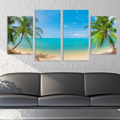 0060Wall art decoration (set of 4 pieces) Еxotic island