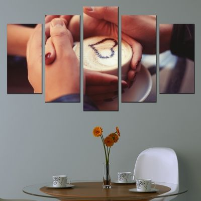 0543 Wall art decoration (set of 5 pieces) Romantic Date