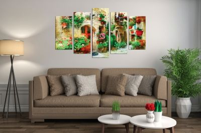 Canvas wall art decoration Vintage landscape of Italy