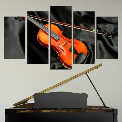 0581 Wall art decoration (set of 5 pieces) Violin