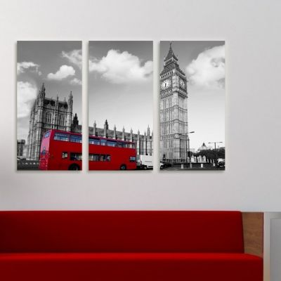 0069 Wall art decoration (set of 3 pieces) London