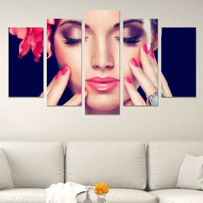 0602 Wall art decoration (set of 5 pieces) Perfect makeup