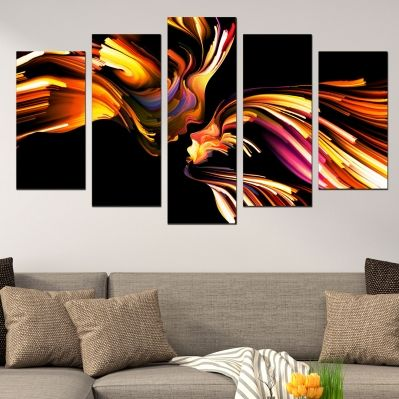 0604 Abstract wall art decoration (set of 5 pieces) Abstract love