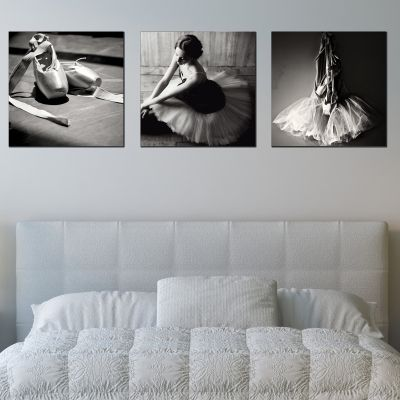 0606 Wall art decoration (set of 3 pieces) Ballet