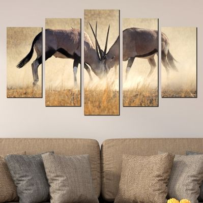 0610 Wall art decoration (set of 5 pieces) Collision