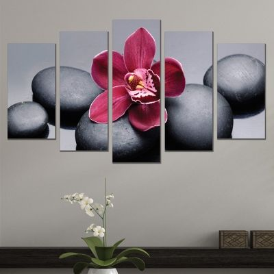 0614 Wall art decoration (set of 5 pieces) Zen composition