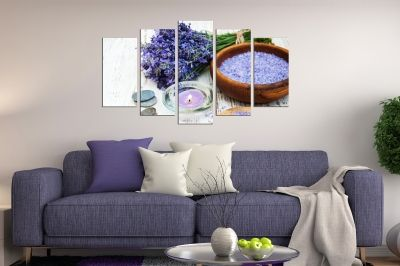 canvas print decoration with Lavender aroma