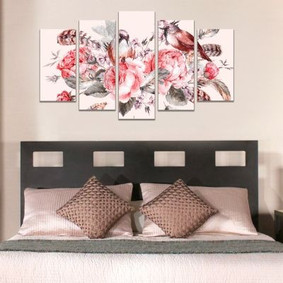 Canvas wall art for bedroom vintage