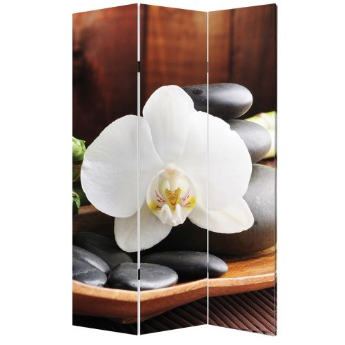 P0117 Decorative Screen Room devider SPA - white orchid (3,4,5 or 6 panels)