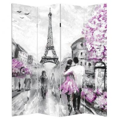 P0417 Decorative Screen Room divider  Lovers in Paris (3,4,5 or 6 panels)