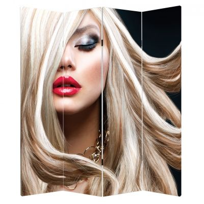 P0468 Decorative Screen Room devider Blond hair (3,4,5 or 6 panels)
