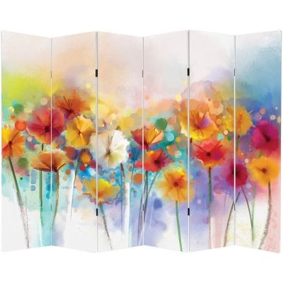 P0550 Decorative Screen Room devider Abstract flowers (3,4,5 or 6 panels)