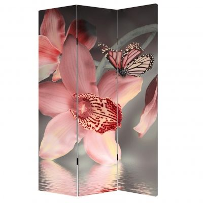 Decorative Room devider Orchids and butterflies