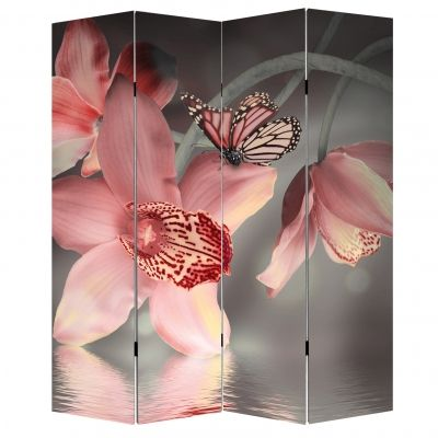 Screen for room Orchids and butterflies