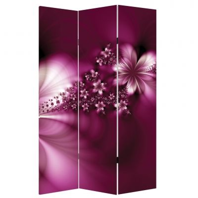 Decorative Room devider Abstract flowers in purple