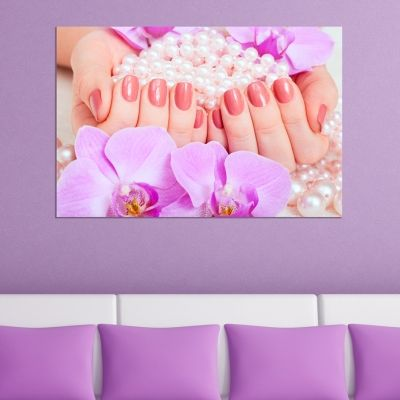 0628_1 Wall art decoration Beautiful manicure