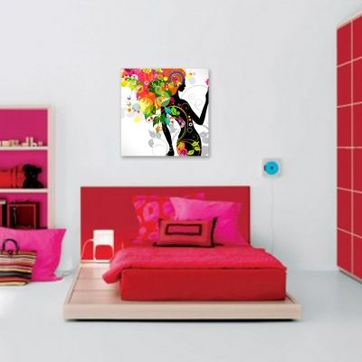 0084 Wall art decoration Color girl