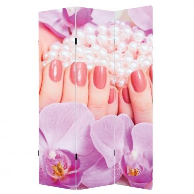 screen for beauty salon with beautiful manicure