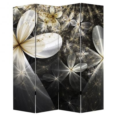 P0629 Decorative Screen Room divider Abstract flowers (3,4,5 or 6 panels)