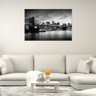 Canvas wall art New York, Brooklyn Bridge