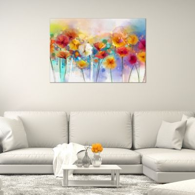 Canvas wall art abstract flowers painting reproduction
