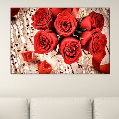 0159_1 Wall art decoration Red roses