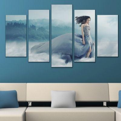 0639 Wall art decoration (set of 5 pieces) Beautiful dress