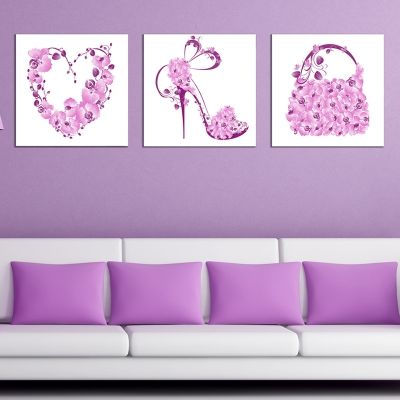 0651 Wall art decoration (set of 3 pieces) Style