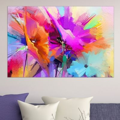 0667_1 Wall art decoration Abstract flowers
