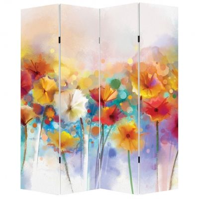 P0550 Decorative Screen Room divider Abstract flowers (3,4,5 or 6 panels)