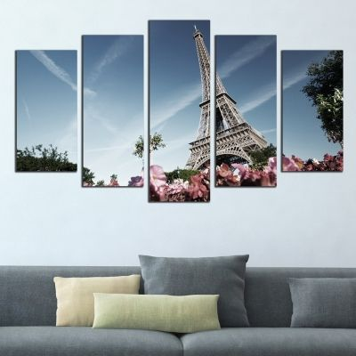 0062 Wall art decoration (set of 5 pieces) Paris