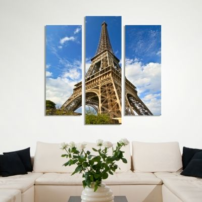 0023 Wall art decoration (set of 3 pieces)  Paris