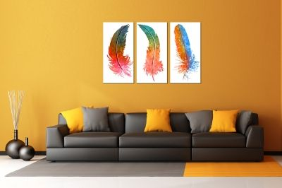 Art paintings abstract leaves