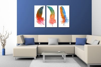 Canvas wall art set abstract leaves