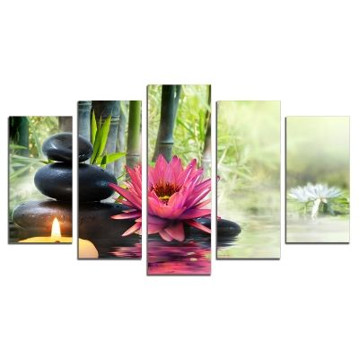 0466 Wall art decoration (set of 5 pieces) Zen composition