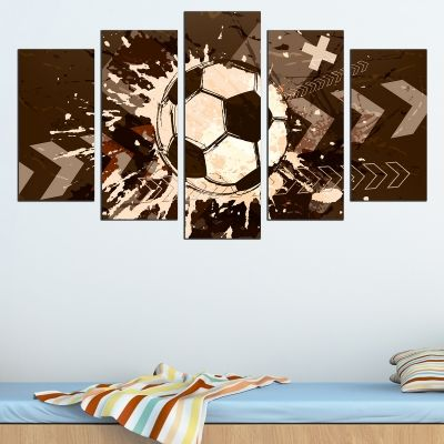010 Wall art decoration (set of 5 pieces) Football