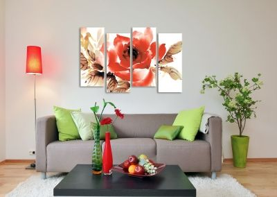 Canvas wall art set of 4 pieces