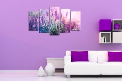 canvas print decoration with levander
