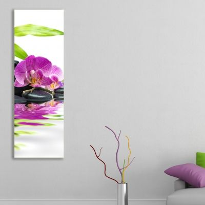 0102_2 Wall art decoration SPA - purple orchid