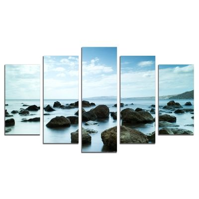 0303 Wall art decoration (set of 5 pieces) Sleeping sea